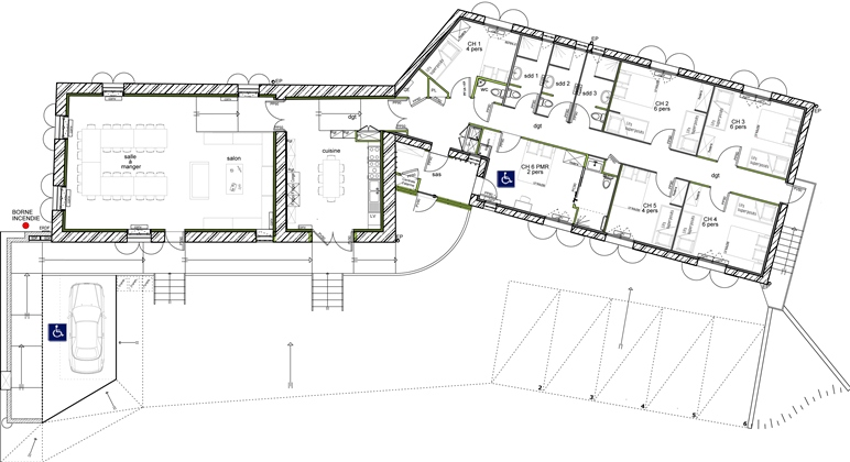 plan maison 5 chambres contemporaine