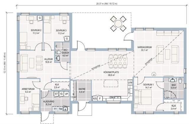 Plan maison moderne r 2 for Plan maison contemporaine bbc