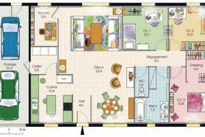 Plan maison familiale 3 chambres