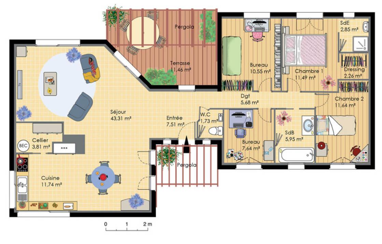 Maison en bois d'architecte