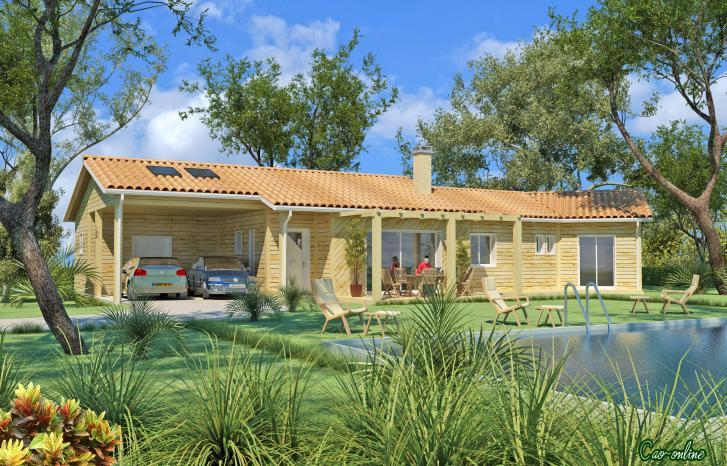 Maison bioclimatique ossature bois plans maisons - Plan maison bioclimatique ...