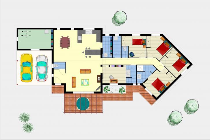 Connu Maison bioclimatique à ossature bois - Plans & maisons QQ96