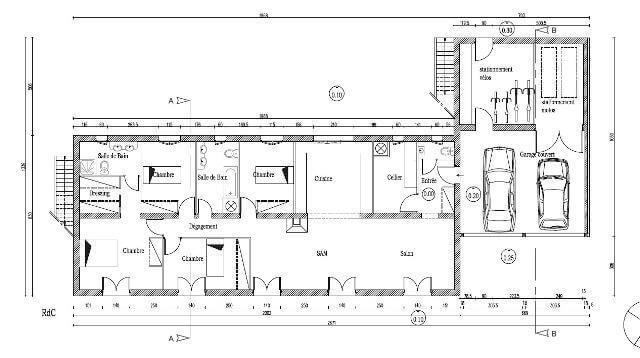 Plan de maison en ossature bois