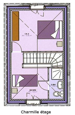 Maison avec étage : 3 chambres