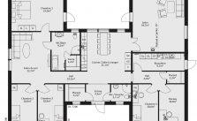 Maison de 7 pièces avec cuisine ouverte – surface habitable 194m²