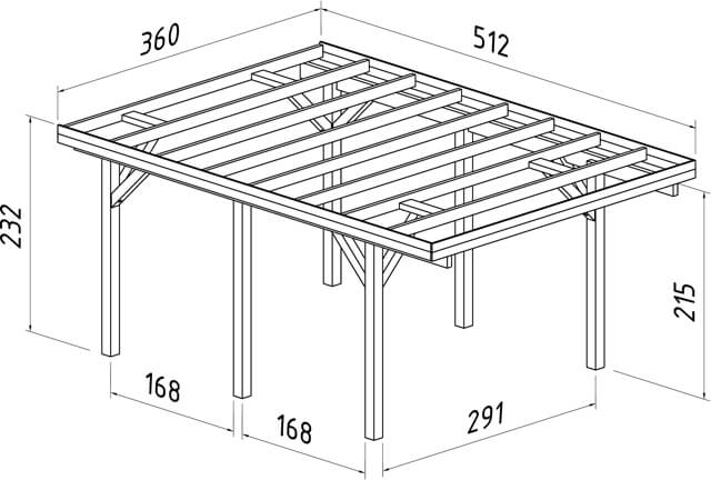 Plan carport simple