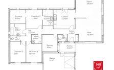 Plan de maison plain pied 150 m2