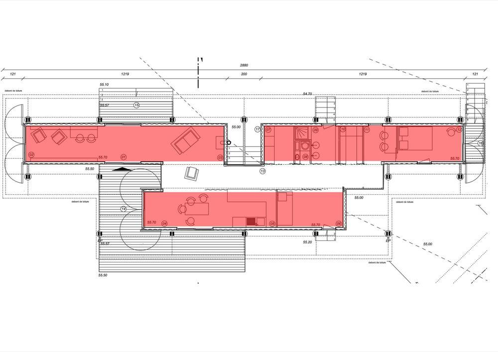 Plan maison conteneur gascity for Plan maison conteneur