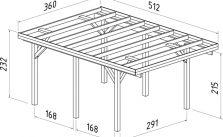 Plan carport simple