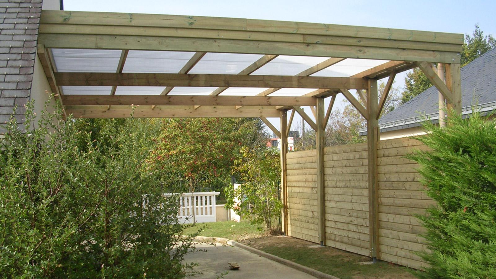 exemple d un carport fait maison ouvert en bois plans maisons. Black Bedroom Furniture Sets. Home Design Ideas