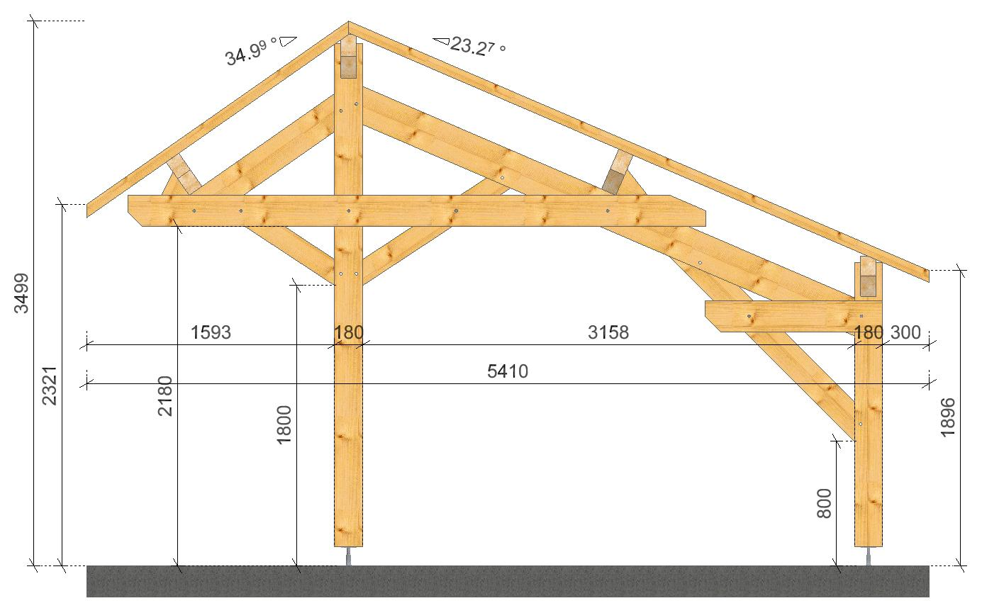 Plan carport double for Modele maison