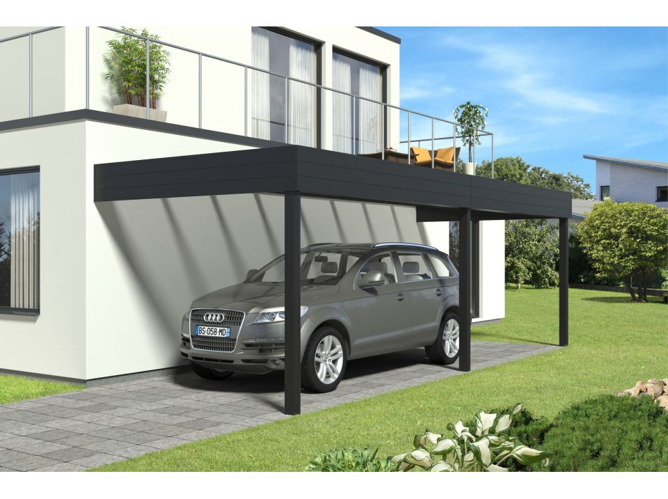 plan carport double adoss plans maisons. Black Bedroom Furniture Sets. Home Design Ideas
