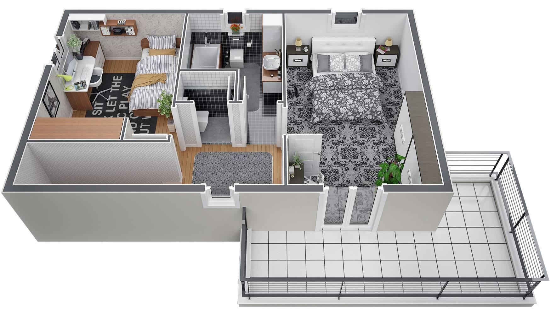 Villa de 120 m² à étage avec chambre parentale et terrasse