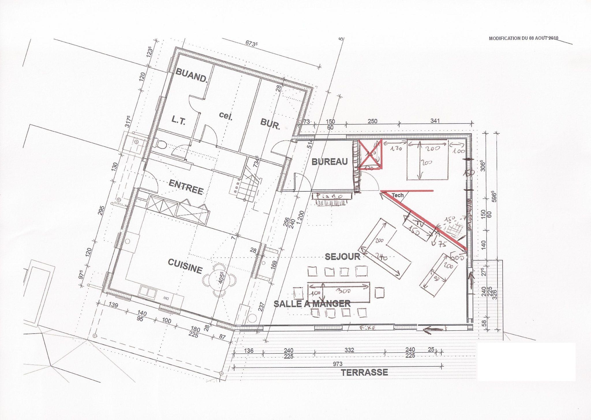 Pied En Forme U Plan De Maison Plein Pied 120m2 Plan Maison Plain Pied